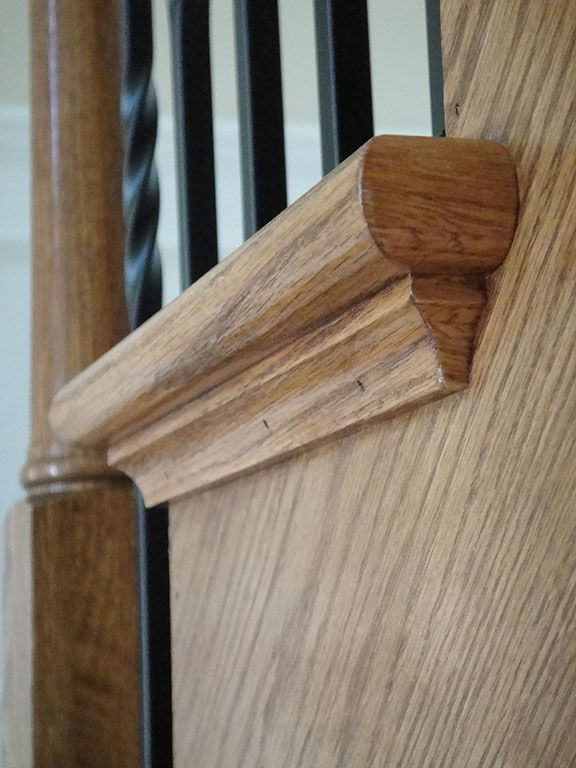End Cap Stairs With Iron Spindles Stairs Trim Staircase Handrail Staircase Design