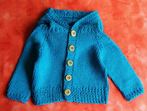 Baby Boys Clothes Bright Blue Cotton Blend Hoodie Infant Boys