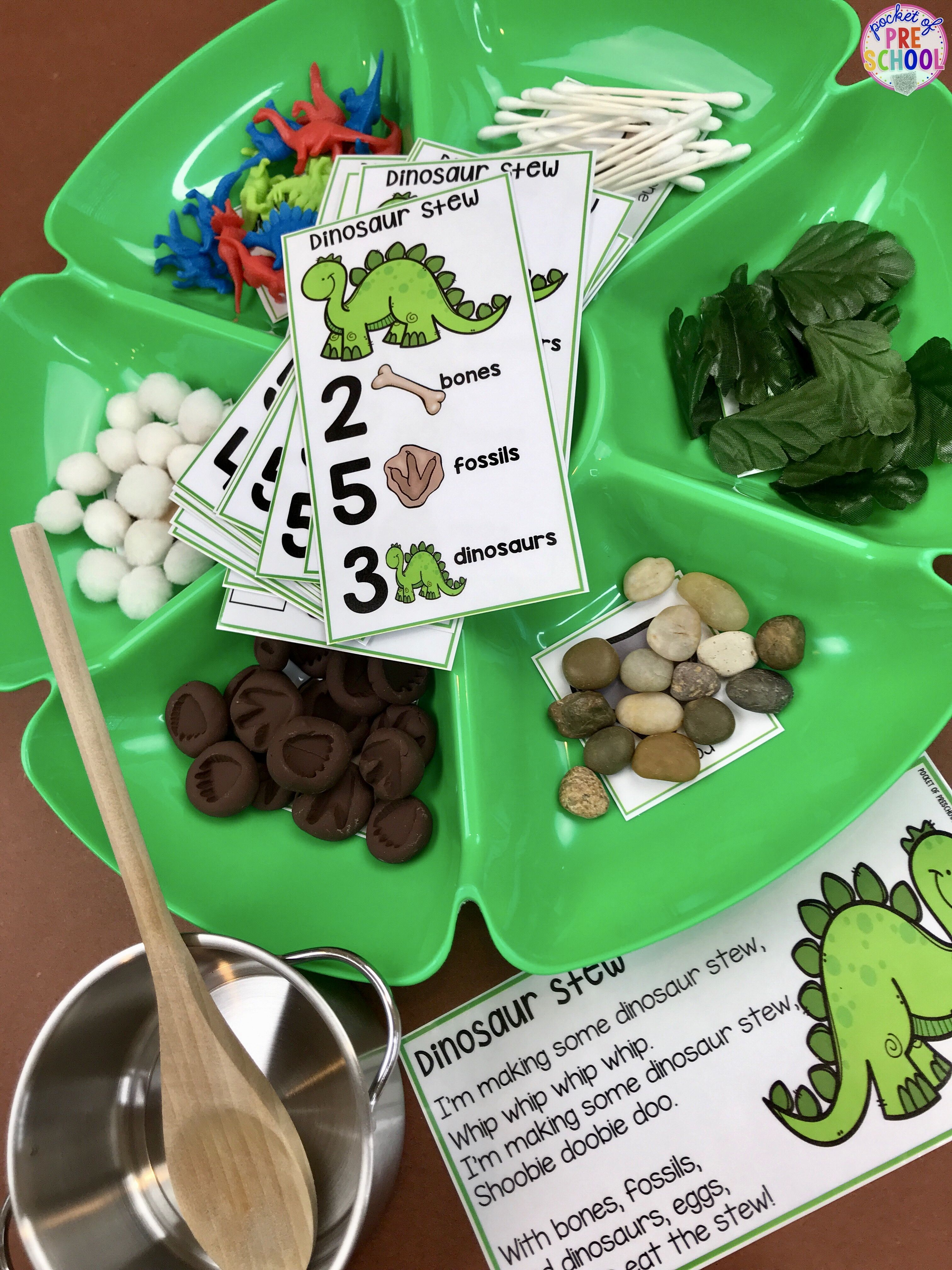 Dinosaur Counting Stew A Fun Game For Preschool Pre K