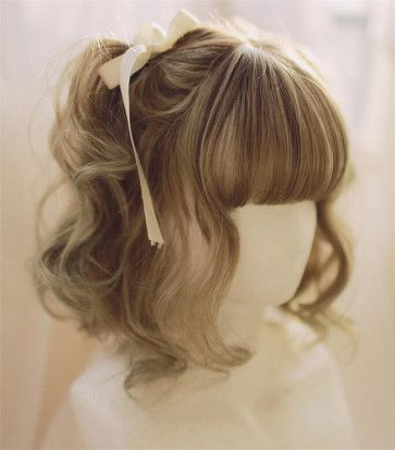 Photo of Little Poppy~ Sweet Lolita Short Curls Wig 30cm