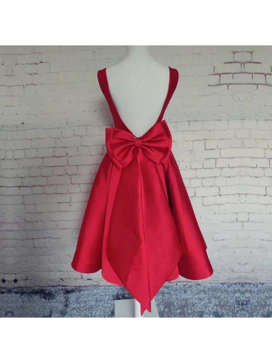 Short red prom homecoming cocktail graduation dresses