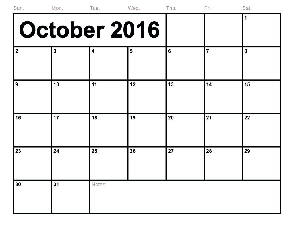October-2016-Calendar.jpg (1024×791) | October 2016 Calendar | Pinterest