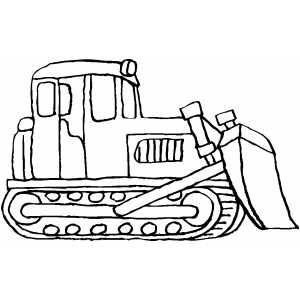 Standing Bulldozer coloring pages Pinterest Crafts