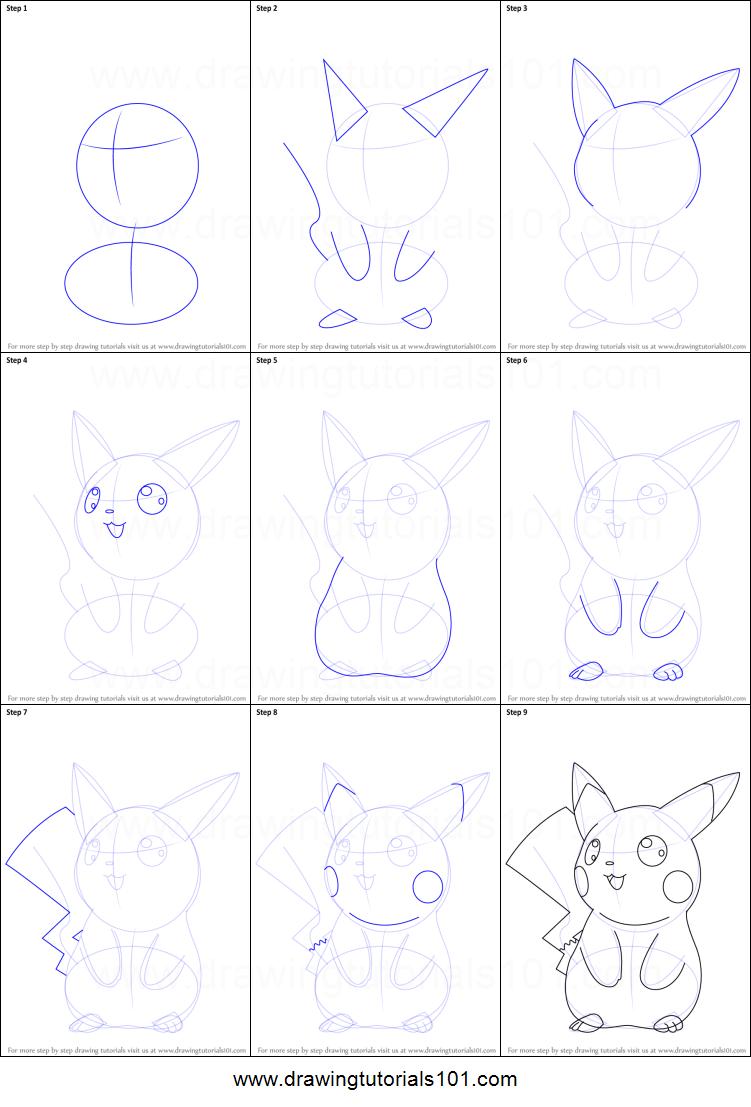 How To Draw Ninja Pikachu From Pokemon Printable Drawing Sheet By  Drawingtutorials101