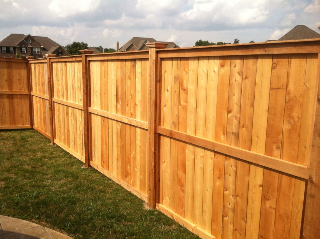 Decorative wooden privacy fence fence pinterest for Wood privacy fence ideas