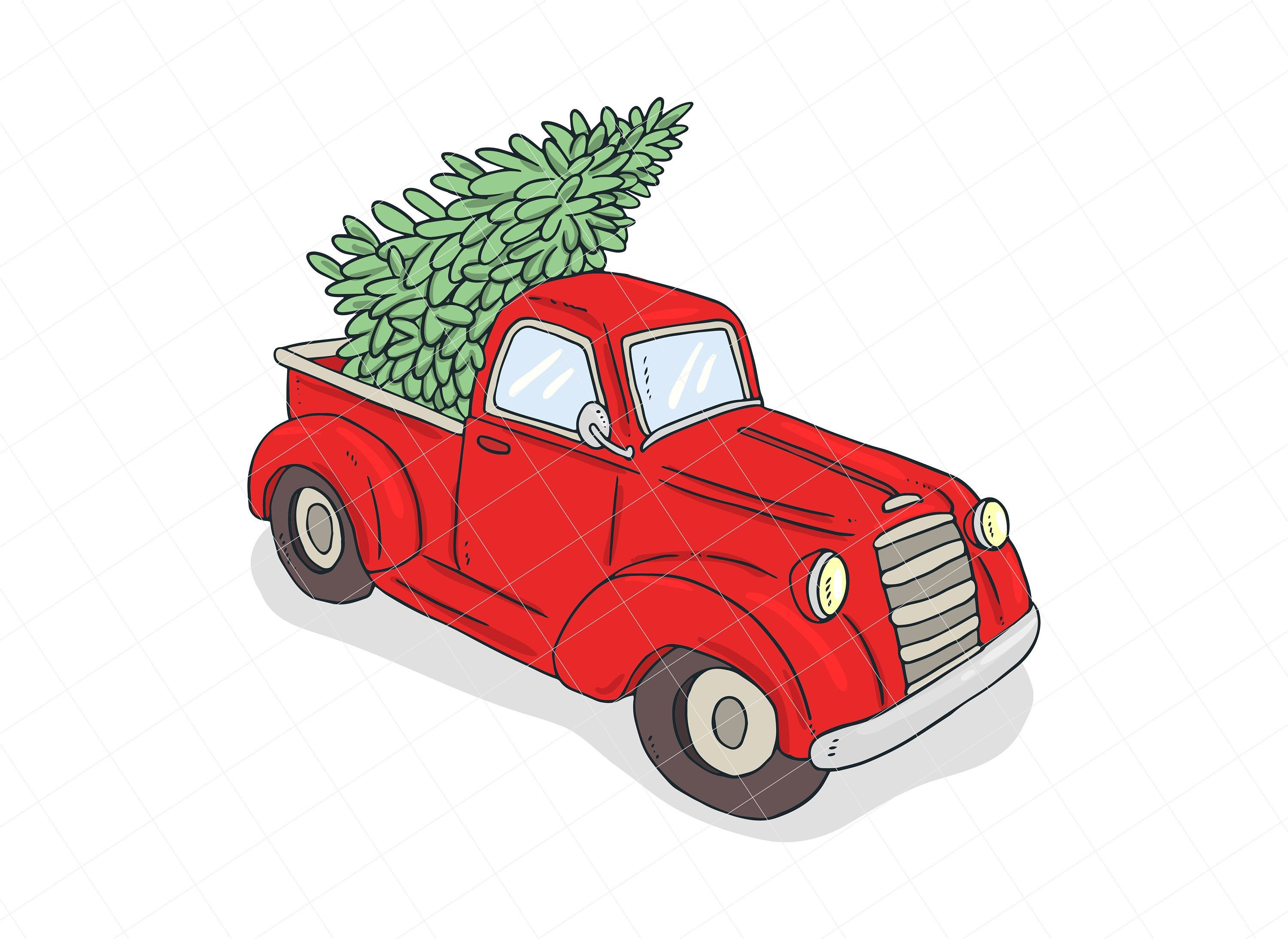 Christmas Tree Truck Png Red Truck Clipart Png Tree Png Etsy In 2020 Christmas Tree Truck Red Truck Clip Art