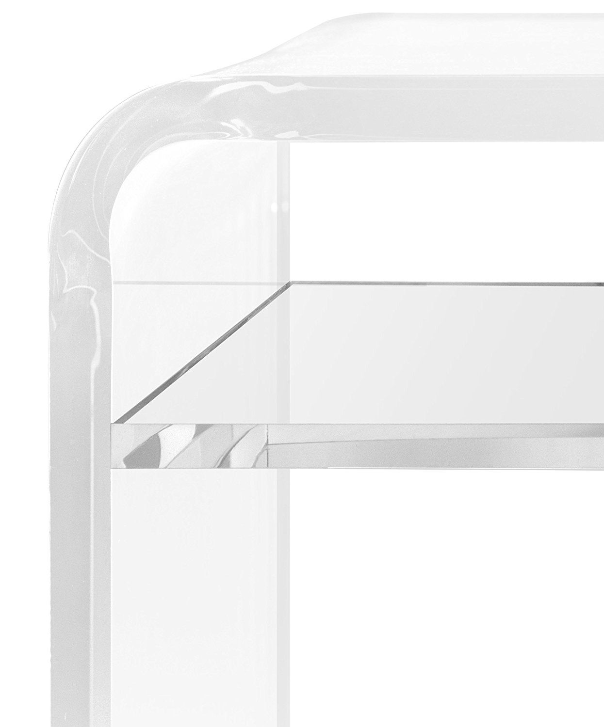 Thick Acrylic Coffee Table With Shelf Clear Entryway Benchx16 H