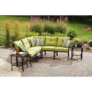 Better Homes And Gardens Hillcrest Outdoor Sectional Sofa Set Seats 5