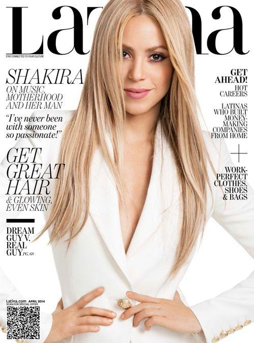 Shakira en couverture de Latina Magazine Hair n Makeup