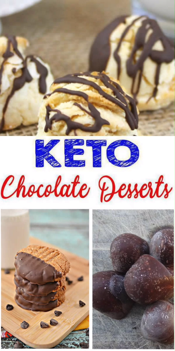 15 Keto Chocolate Desserts – BEST Low Carb Chocolate Dessert Recipes – Easy Ketogenic Diet Ideas images