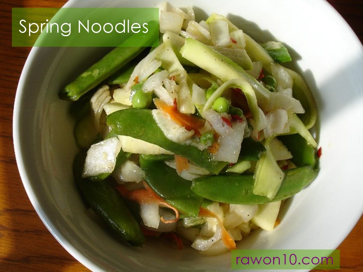 Raw on 10 a day or less spring noodles raw food main dish easy affordable raw food recipes raw meal plans menus vegan recipes and lifestyle tips forumfinder Images