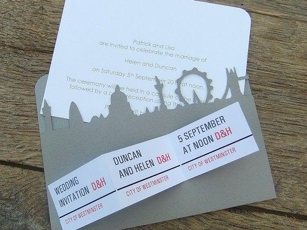 Wedding Gifts London: Designer Event Stationery, London Wedding Invite