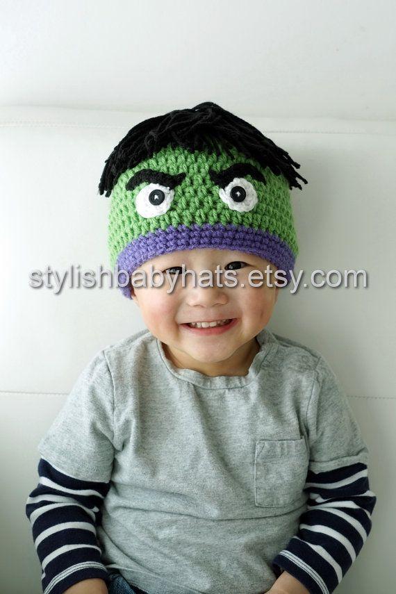 Hulk Hat Avengers Crochet Baby Hat Baby Hat Photo Prop Inspired