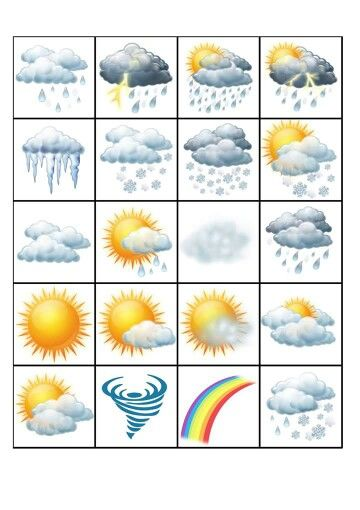 Symboly Počasí Kids Education Preschool Planning Weather For Kids