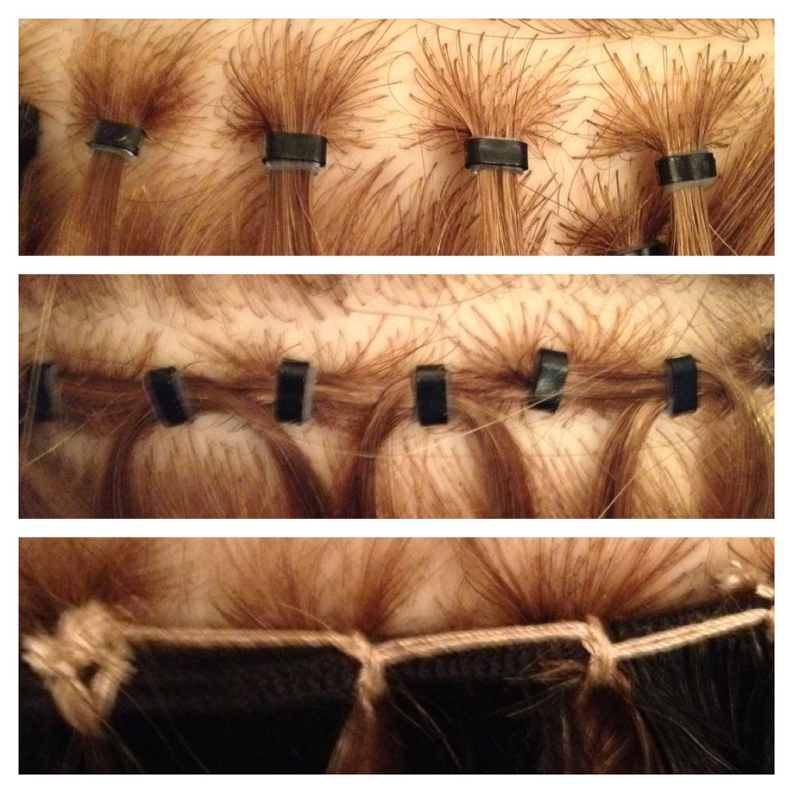 Micro Ring Extension Techniques Hair Excellent Choice Pinterest