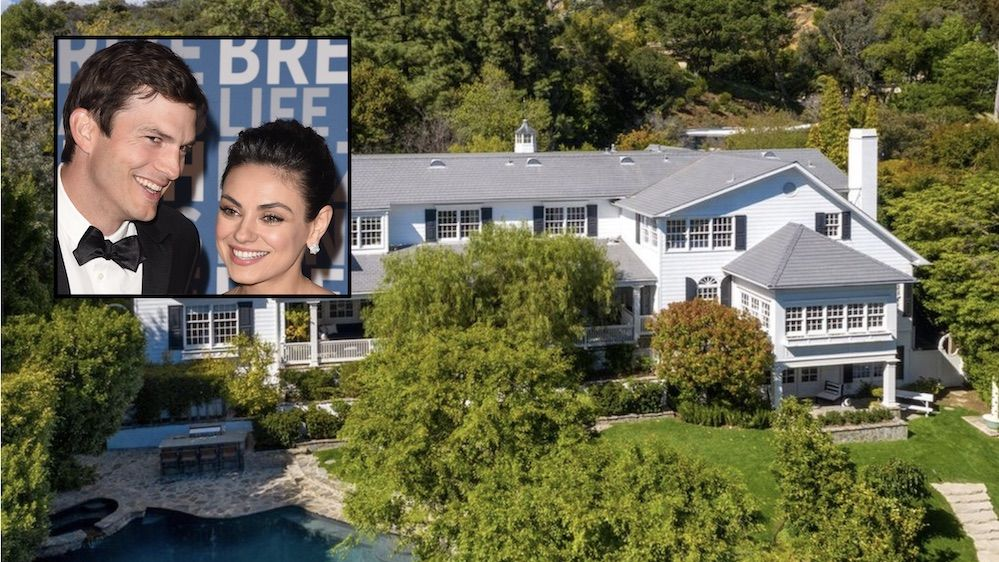 Ashton Kutcher And Mila Kunis Selling Beverly Hills Home For 14m Beverly Hills Houses Celebrity Real Estate Beverly Hills