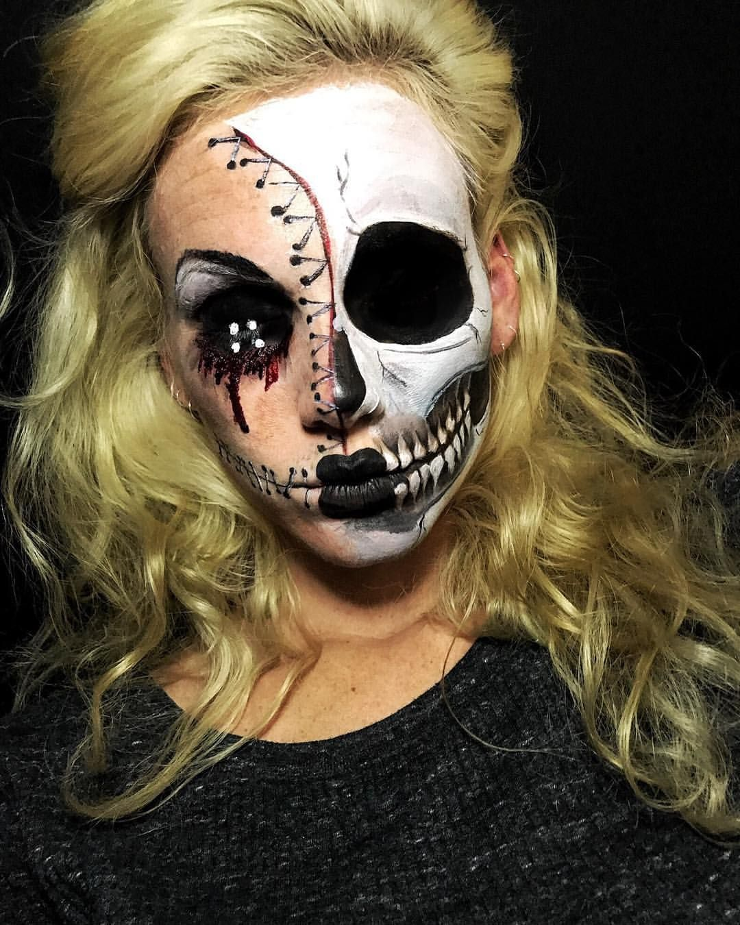 skeleton halloween makeup spooky scary pictures | www.picturesboss