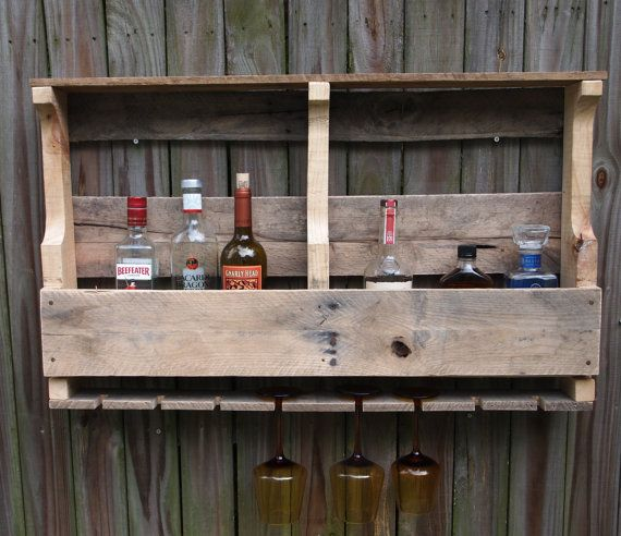 There's A Bar On Your Wall WineLiquorWine Glass by theupcycleddad