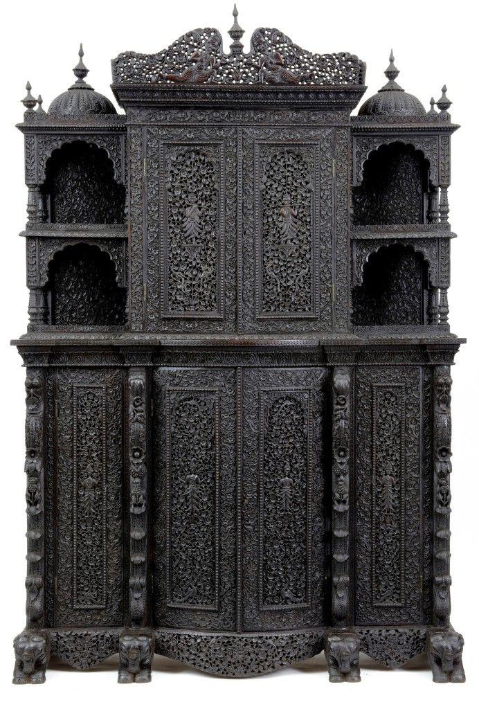 Insane 19th century Anglo-Indian rosewood cabinet, ebay, Debenham Antiques,  UK - Insane 19th Century Anglo-Indian Rosewood Cabinet, Ebay, Debenham
