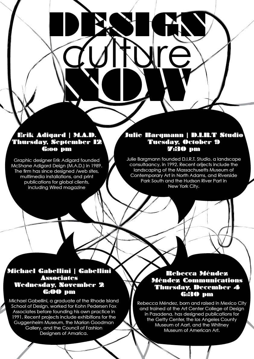 School assignment: Design Culture Now Poster   Graphic Design ...