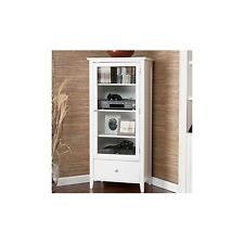 MEDIA STAND TOWER WHITE MULTI PURPOSE BATHROOM LINEN