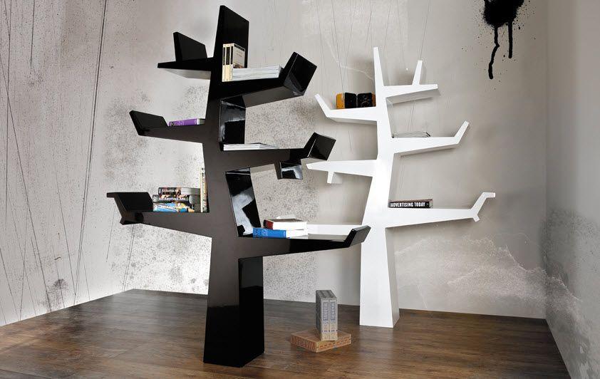 beautiful biblioth que arbre design contemporary. Black Bedroom Furniture Sets. Home Design Ideas