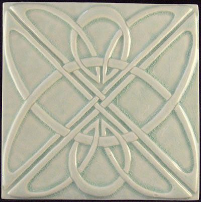 Tile Decorative Decorative Relief Carved Art Deco Celtic Knot Tile Greeting Card