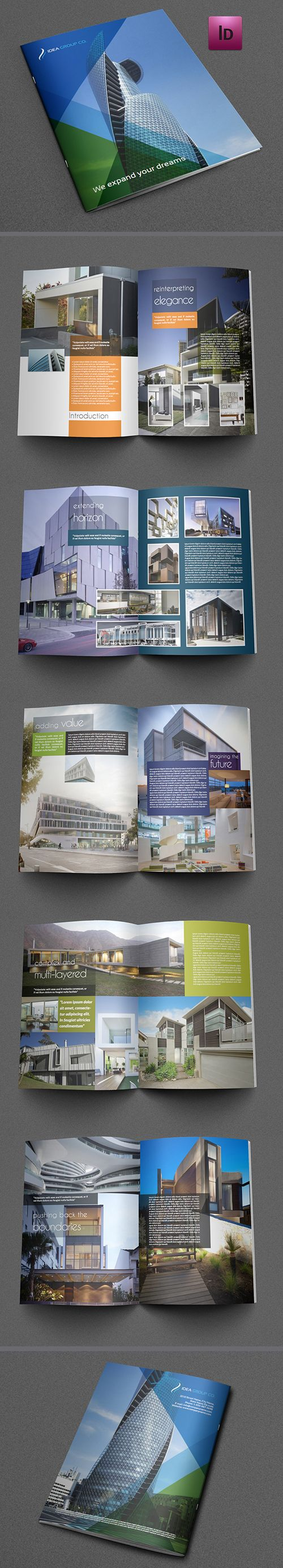 Architectural Brochure Template Brochuredesign Corporatebrochure