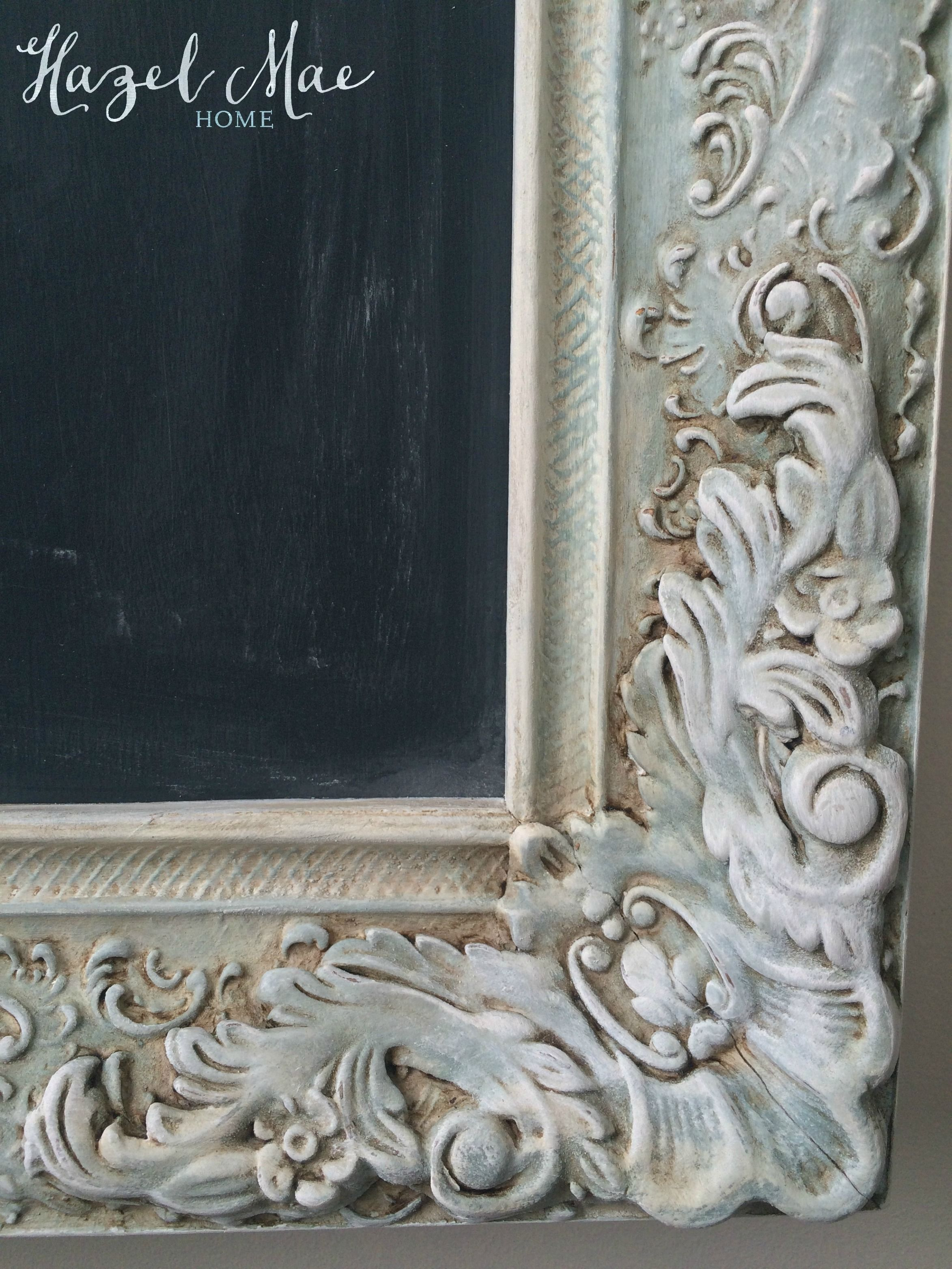 Vintage Frame Chalkboard In Annie Sloan Duck Egg Coco And