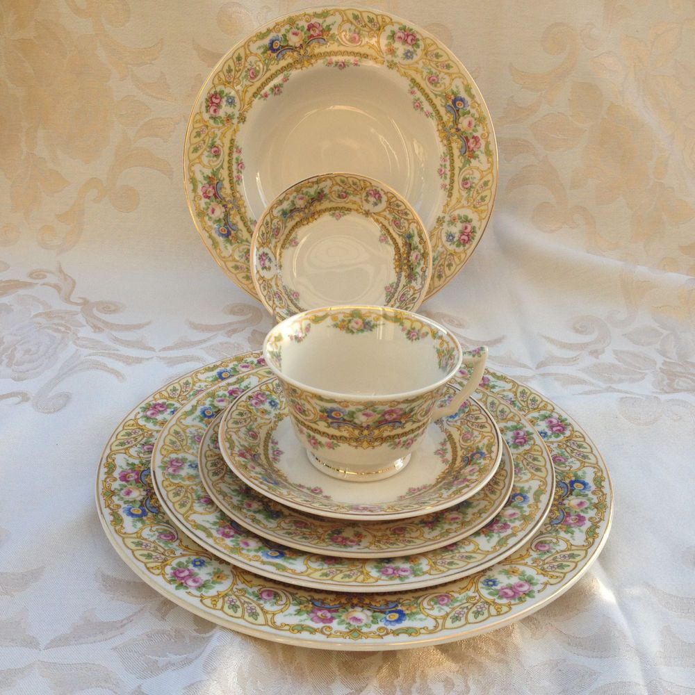 Syracuse China Old Ivory Rose Marie Victorian Floral On