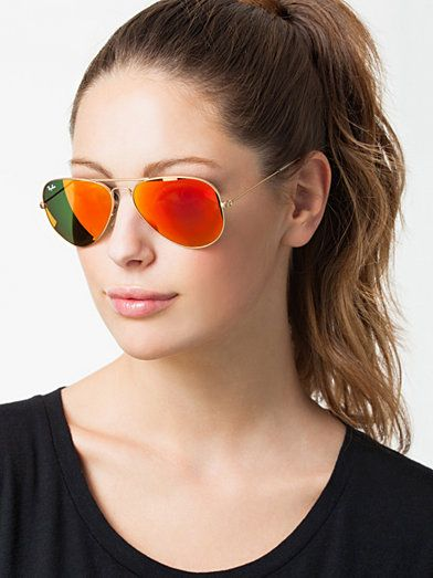 f29112f9945 Rb 3025 Aviator - Ray Ban - Red - Sunglasses - Accessories - Women -  Nelly.com