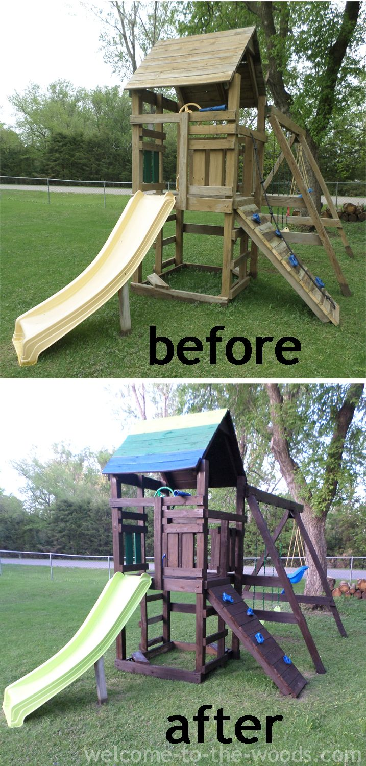 Playground Makeover Welcome To The Woods Playground