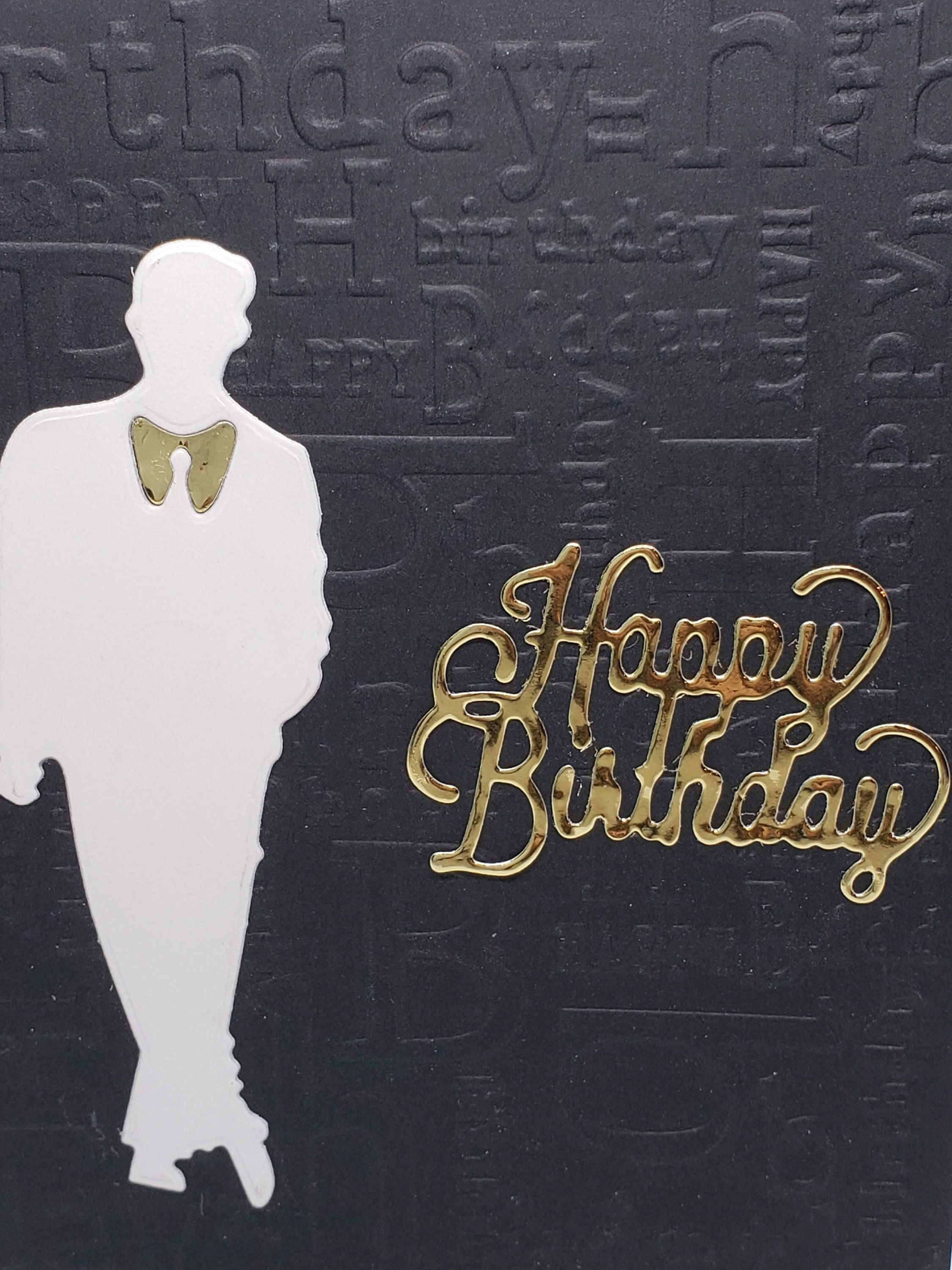 Black Embossed Happy Birthday With Male Silhouette Https Psrdesigns Com Cards Html Happy Cards Happy Birthday Black Birthday Cards