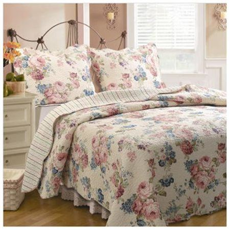 Global Trends Vintage Floral Reversible Quilt Set Multicolor Comforter Sets Bedding Sets Comforters