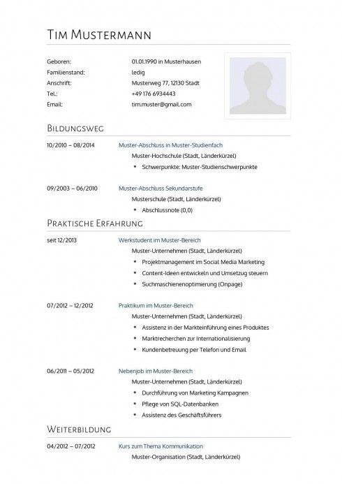 lebenslauf muster vorlage 2 psychologe 1 - Mustervorlage Lebenslauf