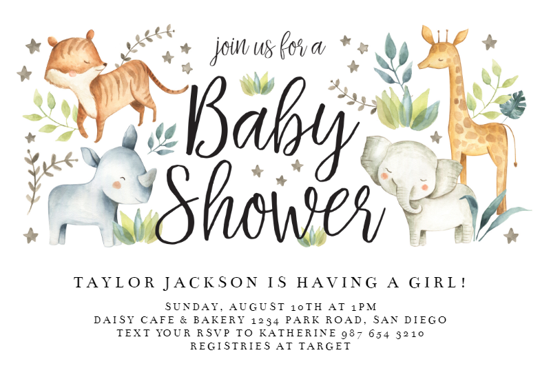 Baby Shower Invitation Template Free