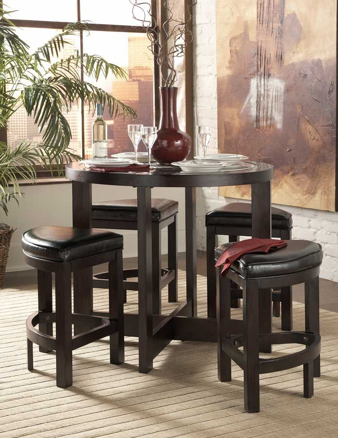 Space Saver....Brussel 5 Pc Pub Dining Set Homelegance