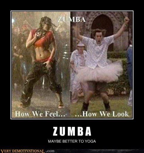 Zumba: how we feel vs. how we look