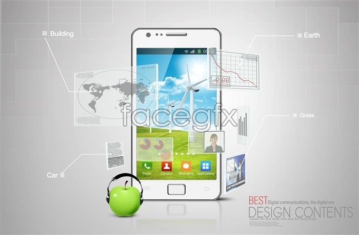 Smartphone PSD poster design template