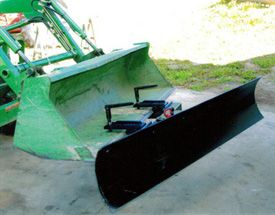 Snow plow attachment for front end loader | Tractor stuff in