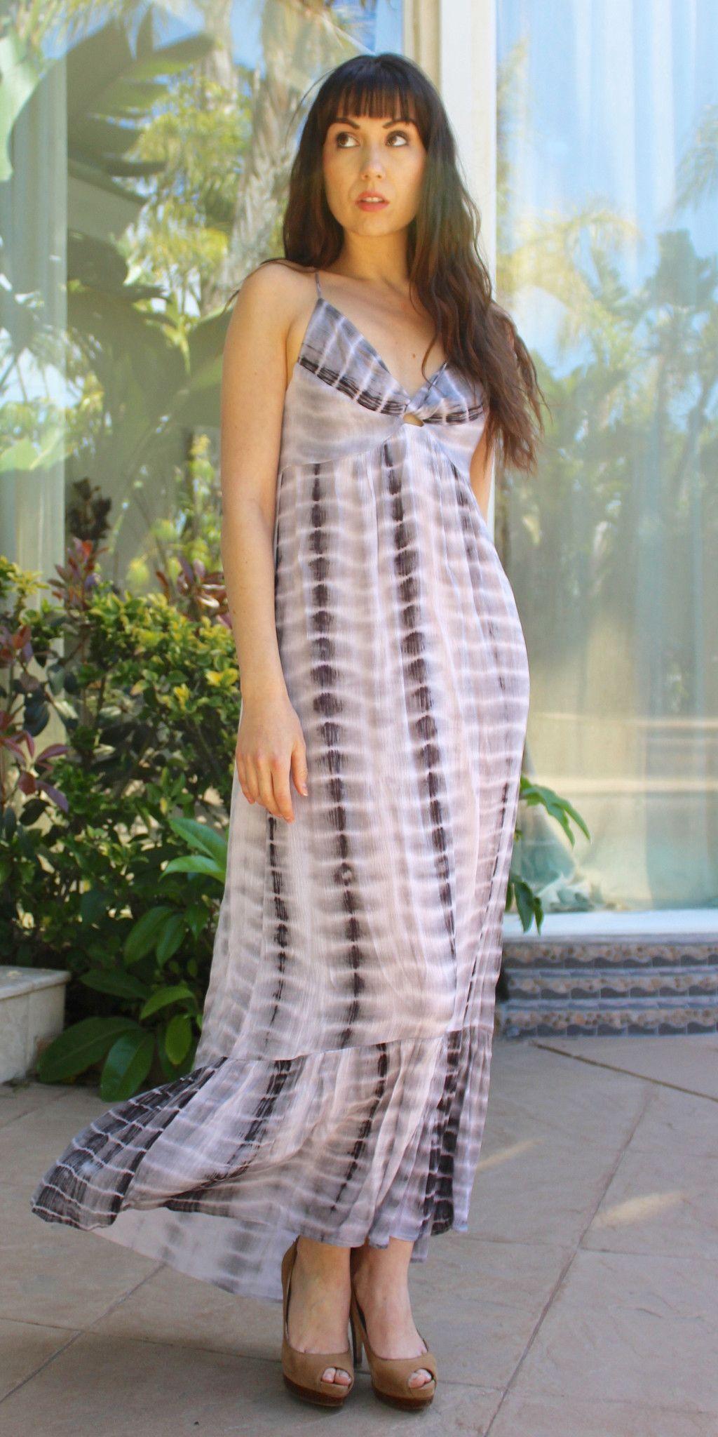 Grey Tie Dye Maxi Dress