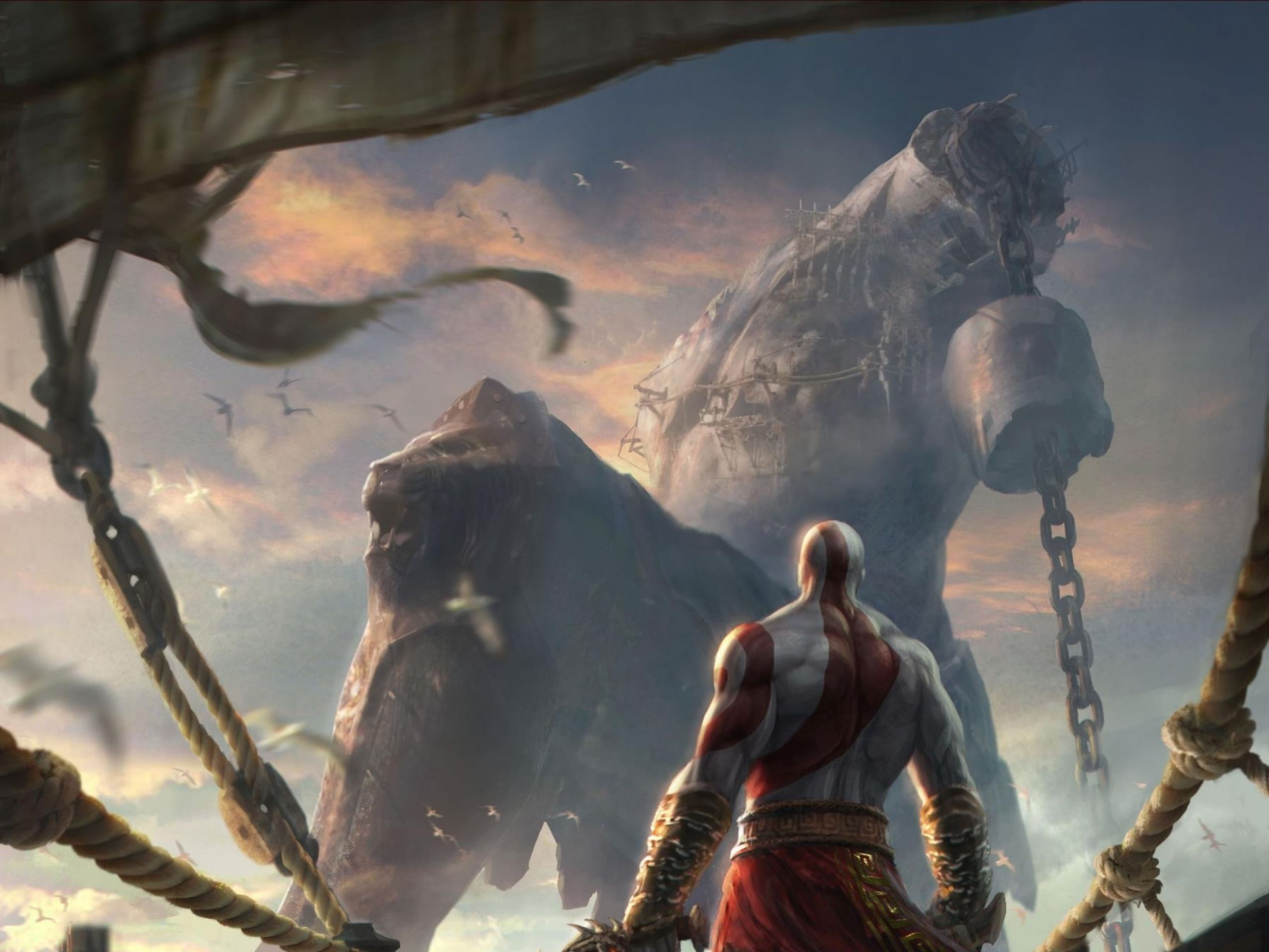 Download Wallpapers Download 2560x1920 God Of War Concept Art Artwork Chains Blades Kratos God Of Wa Kratos God Of War God Of War Kratos God Of War Wallpapers