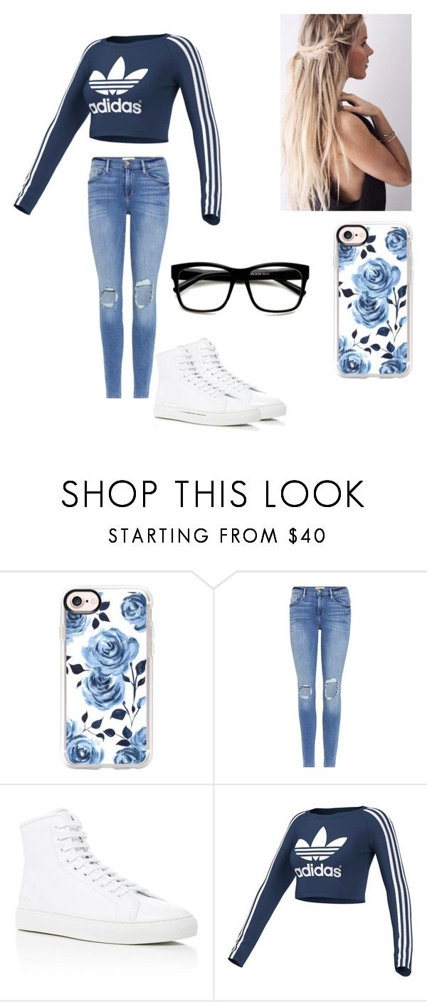 """""""Lacrosse"""" by kendall-bostic ❤ liked on Polyvore featuring Casetify, Frame, Common Projects and adidas Originals"""