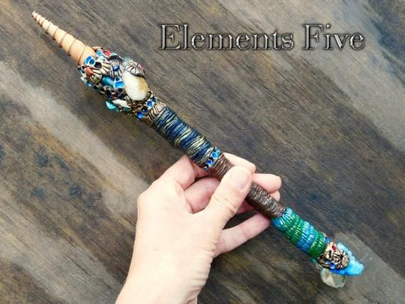 Wand, Wiccan Wand, Crystal Wand, Witch Wand, Wizard Wand, Witches