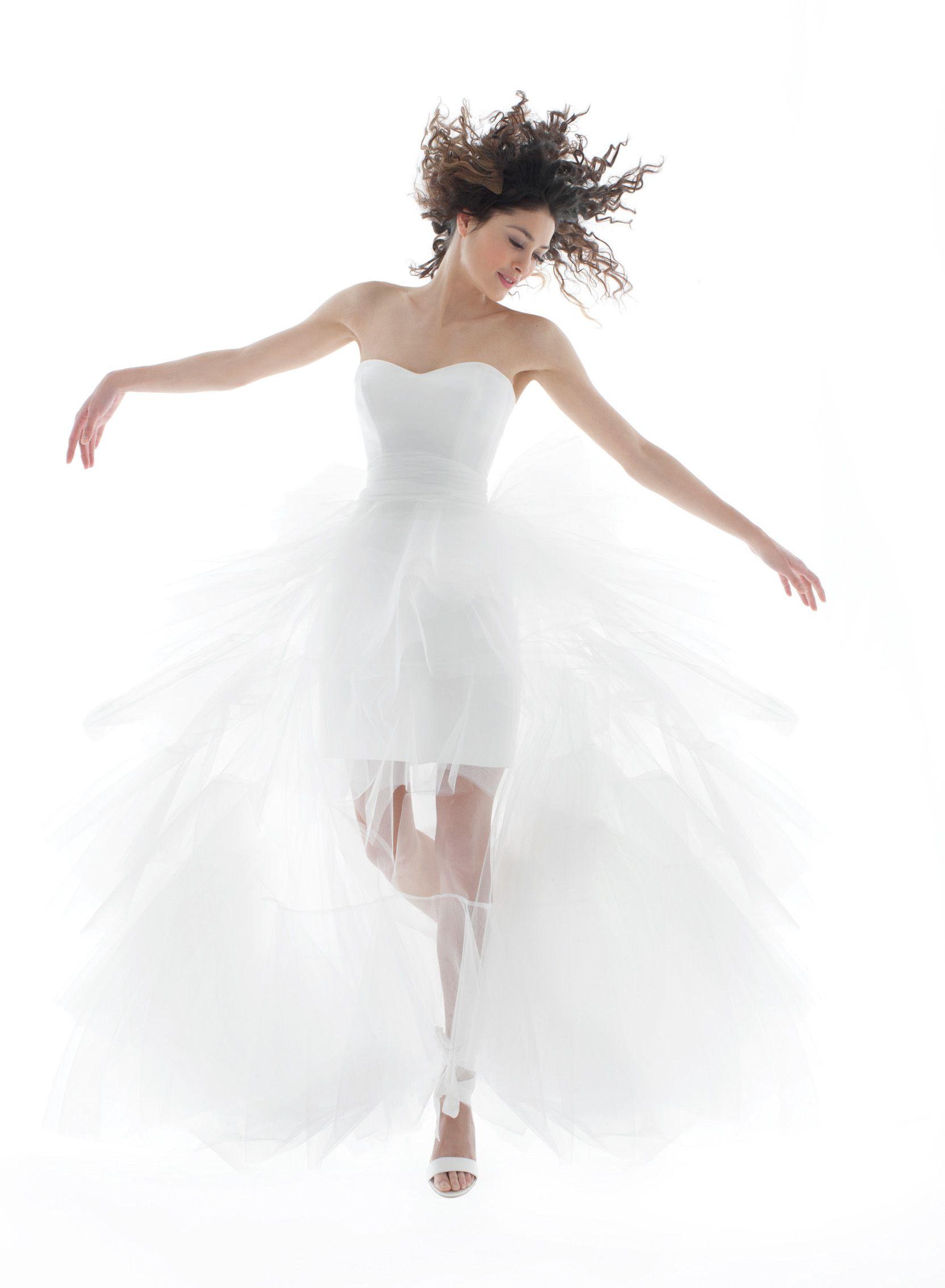 Cymbeline Hermina Wedding Dresses Short Wedding Dress Wedding Dress Organza [ 4606 x 3071 Pixel ]