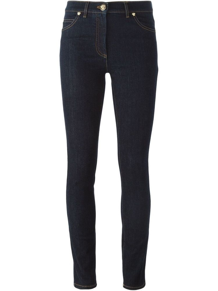 Versace Badge Rrp875For Embroidered Skinny Jeans Size Medusa 25 hdCtQrxsBo