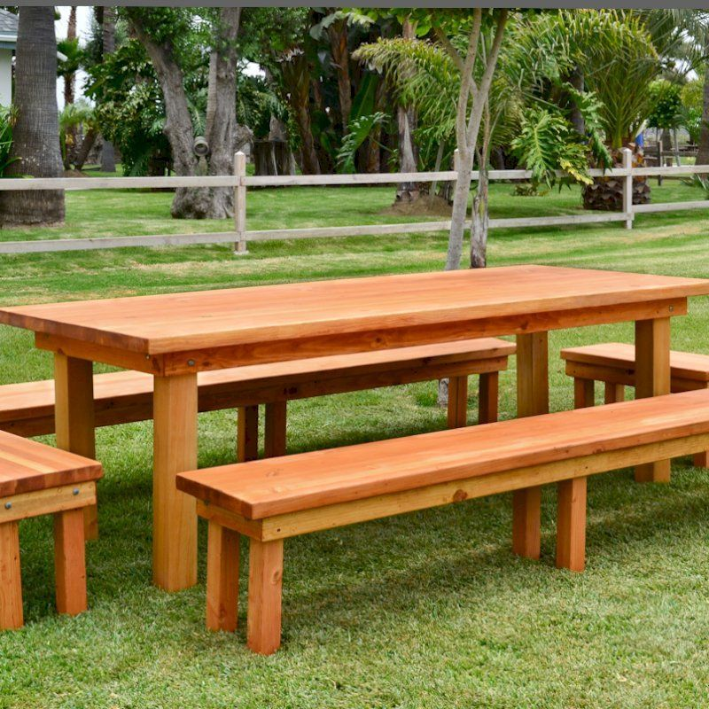 15 Plans For Picnic Table With Separate Benches Picnic Table