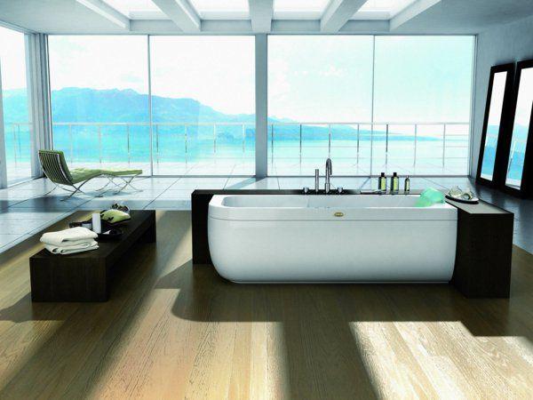 Midischrank badezimmer ~ Freistehende badewanne mit hölzenrnen schrank badezimmer