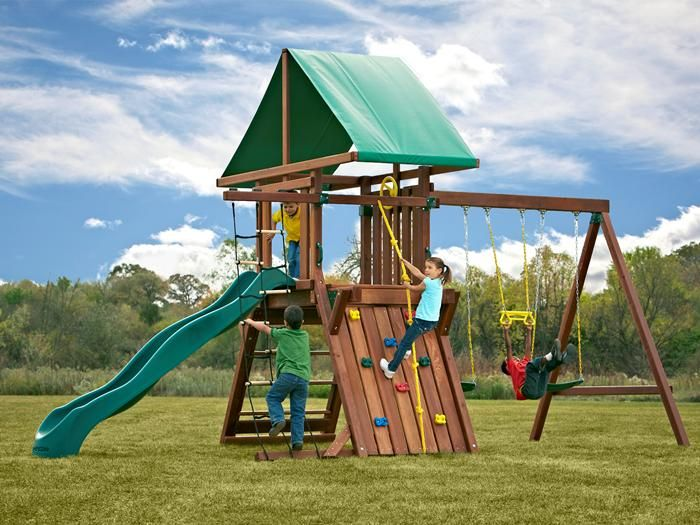 The Official Site Of The Sidekick Redwood Premier Play Set Made From California Redwood Strong And Durable With Factory Warran Playset Outdoor Fun Swing Set