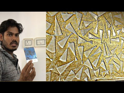 New Texture Design Making On Metal Putty Blide Asian Paints Eng Sub Youtube Asian Paints Texture Design Wall Texture Design
